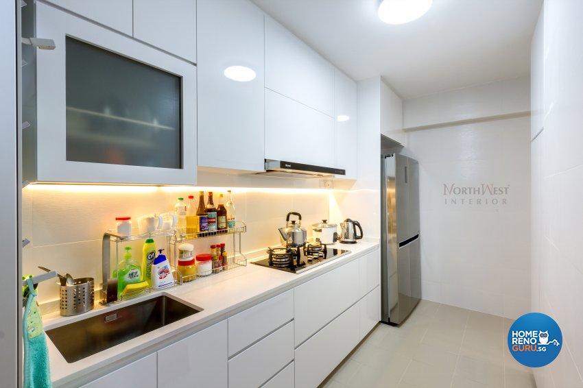 Contemporary, Minimalist Design - Kitchen - HDB 4 Room - Design by NorthWest Interior Design Pte Ltd
