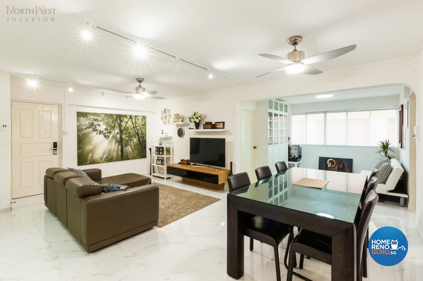 Contemporary, Minimalist, Rustic Design - Living Room - HDB 4 Room - Design by NorthWest Interior Design Pte Ltd