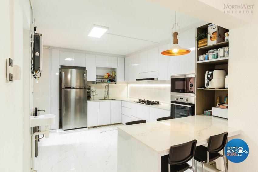 Contemporary, Minimalist, Rustic Design - Kitchen - HDB 4 Room - Design by NorthWest Interior Design Pte Ltd