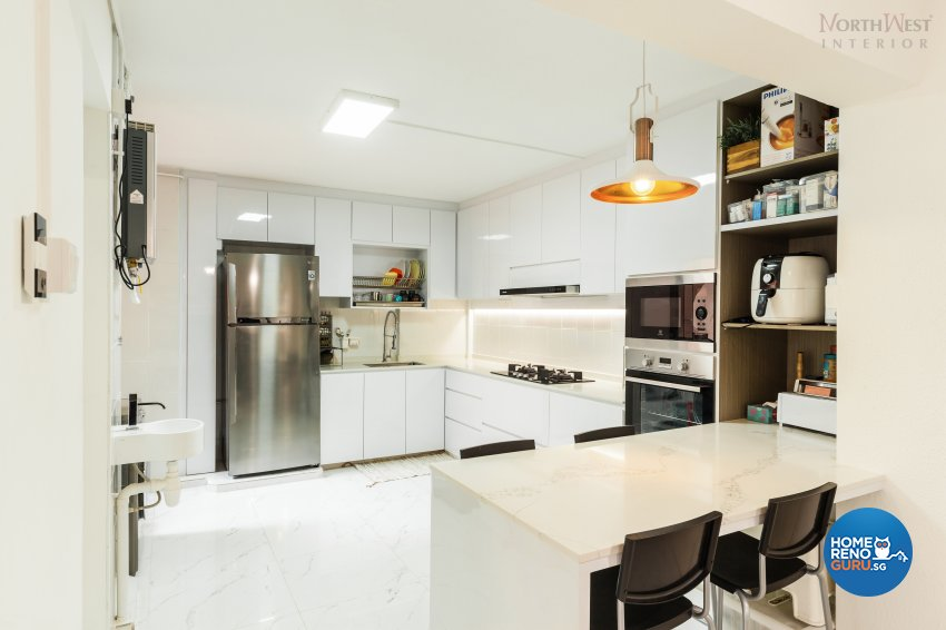 Contemporary, Minimalist, Rustic Design - Kitchen - HDB 4 Room - Design by NorthWest Interior Design Pte Ltd