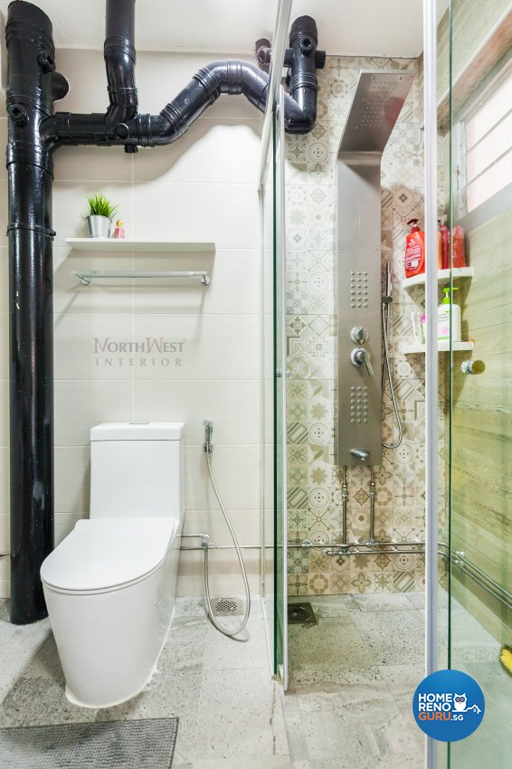 Contemporary, Minimalist, Rustic Design - Bathroom - HDB 4 Room - Design by NorthWest Interior Design Pte Ltd