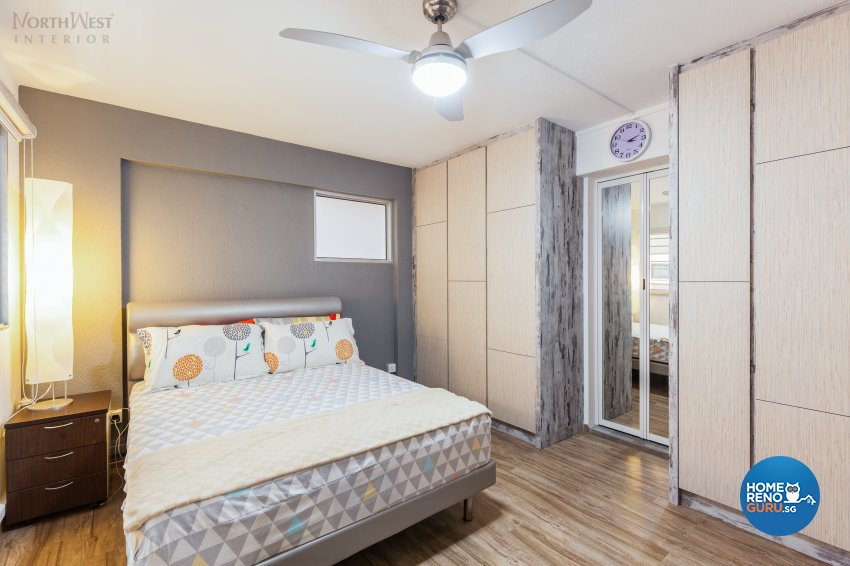 Contemporary, Minimalist, Rustic Design - Bedroom - HDB 4 Room - Design by NorthWest Interior Design Pte Ltd