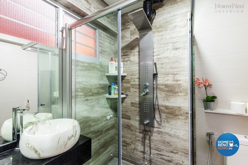 Contemporary, Minimalist, Rustic Design - Bathroom - HDB 4 Room - Design by NorthWest Interior Design Pte Ltd