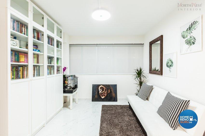 Contemporary, Minimalist, Rustic Design - Study Room - HDB 4 Room - Design by NorthWest Interior Design Pte Ltd