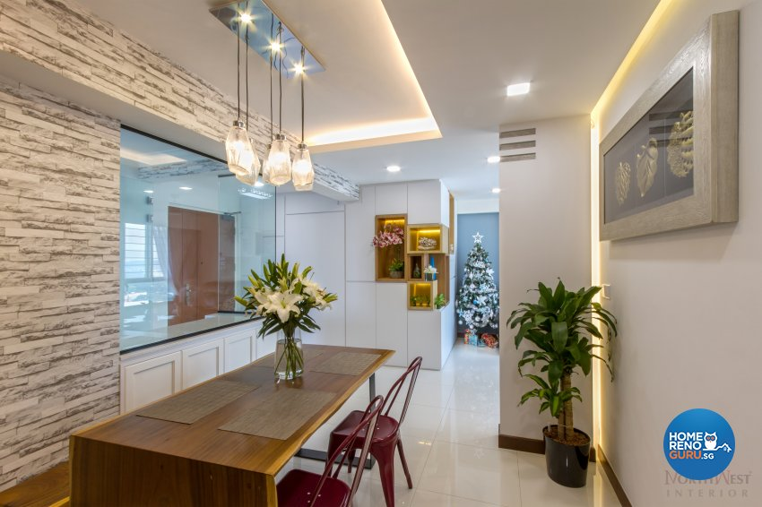 Contemporary, Modern Design - Dining Room - HDB 4 Room - Design by NorthWest Interior Design Pte Ltd