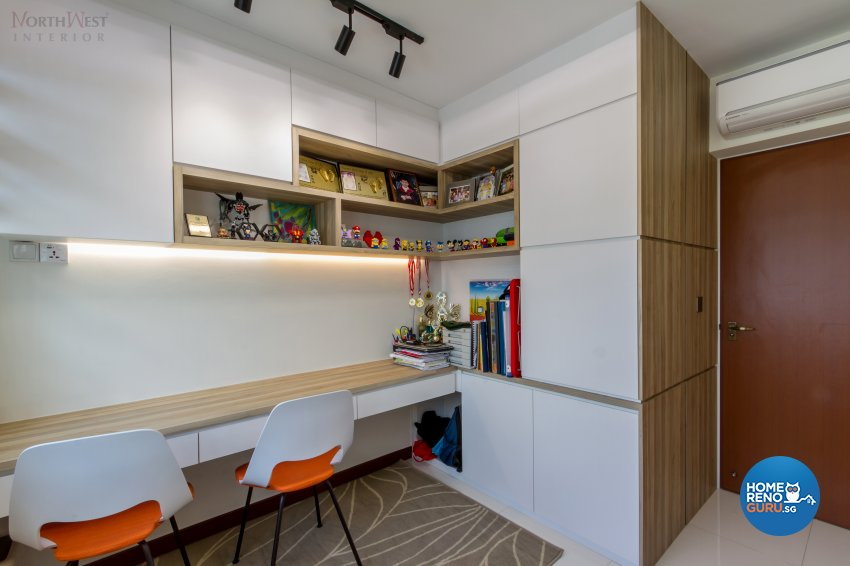 Contemporary, Modern Design - Study Room - HDB 4 Room - Design by NorthWest Interior Design Pte Ltd