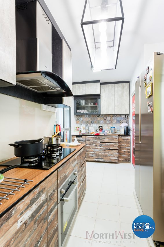 Contemporary, Industrial Design - Kitchen - HDB 4 Room - Design by NorthWest Interior Design Pte Ltd