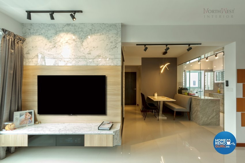 Contemporary, Others Design - Living Room - HDB 4 Room - Design by NorthWest Interior Design Pte Ltd