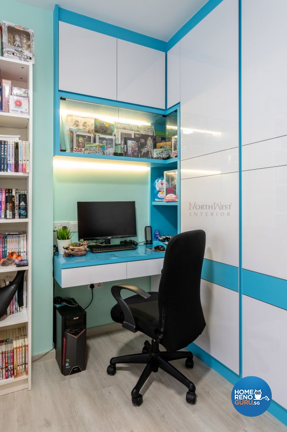 Contemporary Design - Study Room - HDB 4 Room - Design by NorthWest Interior Design Pte Ltd