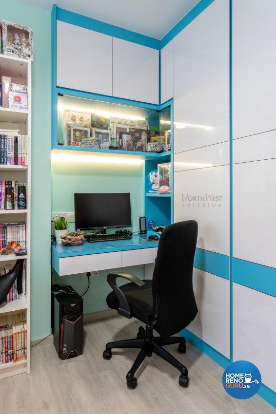 Contemporary Design - Study Room - HDB 4 Room - Design by NorthWest Interior Design Pte Ltd