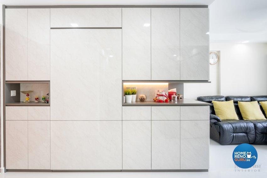 Contemporary Design - Living Room - HDB 4 Room - Design by NorthWest Interior Design Pte Ltd