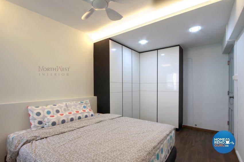 Contemporary, Modern Design - Bedroom - HDB 4 Room - Design by NorthWest Interior Design Pte Ltd