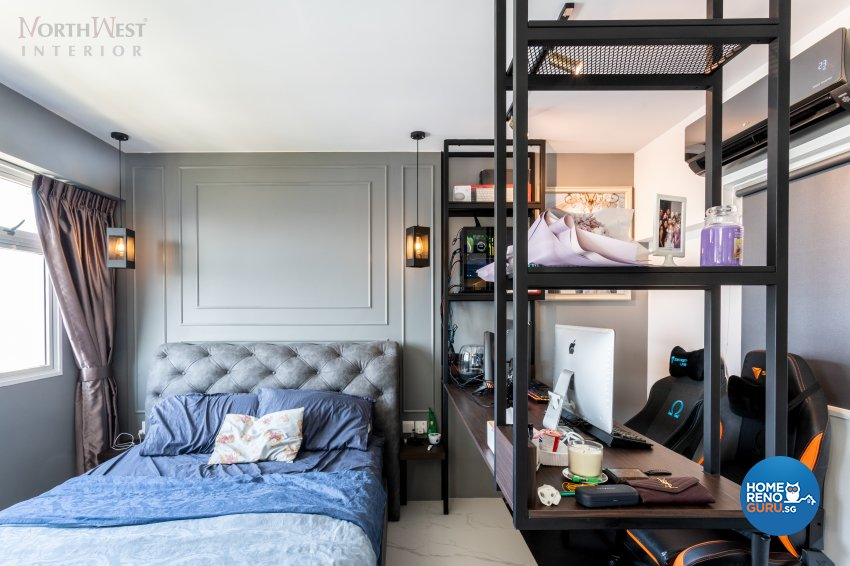 Contemporary, Industrial, Others Design - Bedroom - HDB 4 Room - Design by NorthWest Interior Design Pte Ltd