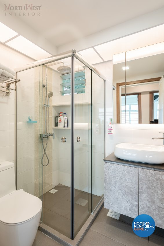 Contemporary Design - Bathroom - HDB 4 Room - Design by NorthWest Interior Design Pte Ltd