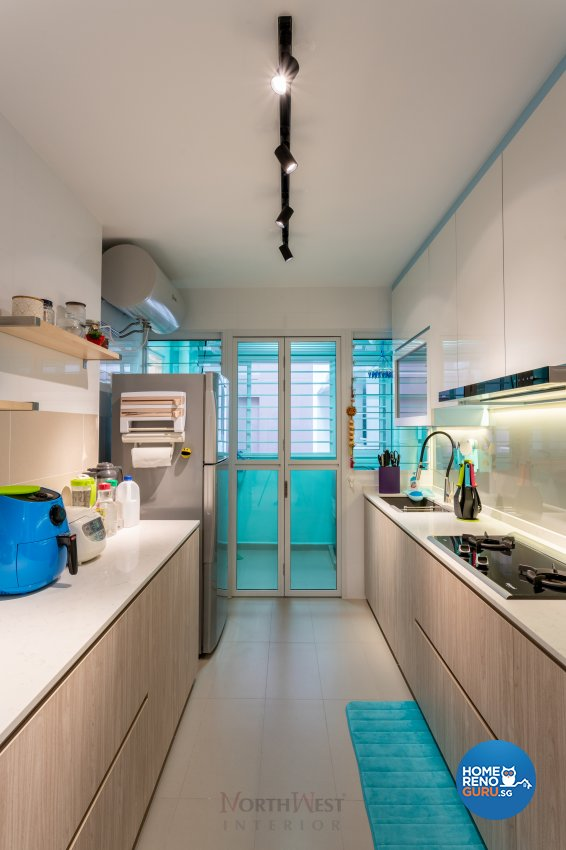 Contemporary Design - Kitchen - HDB 4 Room - Design by NorthWest Interior Design Pte Ltd