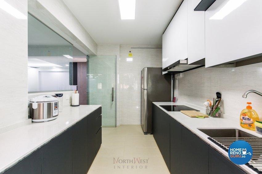 Contemporary, Industrial, Modern Design - Kitchen - HDB 4 Room - Design by NorthWest Interior Design Pte Ltd