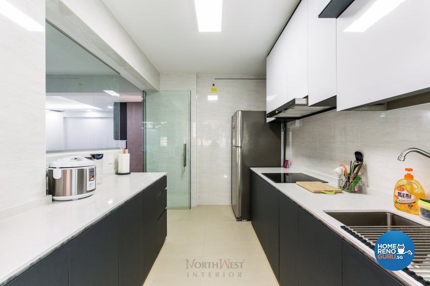 Contemporary, Industrial, Modern Design - Kitchen - HDB 4 Room - Design by NorthWest Interior Design Pte Ltd