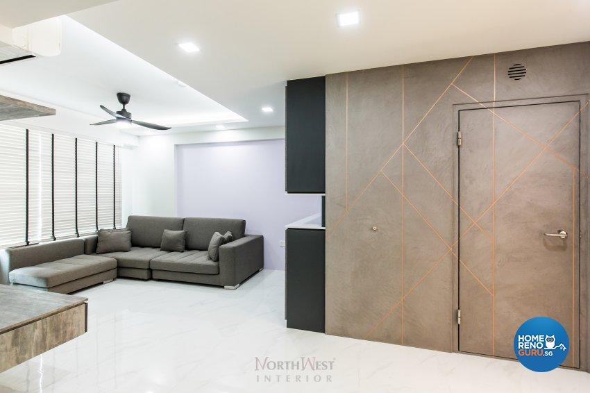 Contemporary, Industrial, Modern Design - Living Room - HDB 4 Room - Design by NorthWest Interior Design Pte Ltd