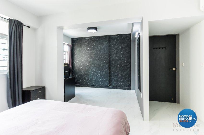 Contemporary, Industrial, Modern Design - Bedroom - HDB 4 Room - Design by NorthWest Interior Design Pte Ltd
