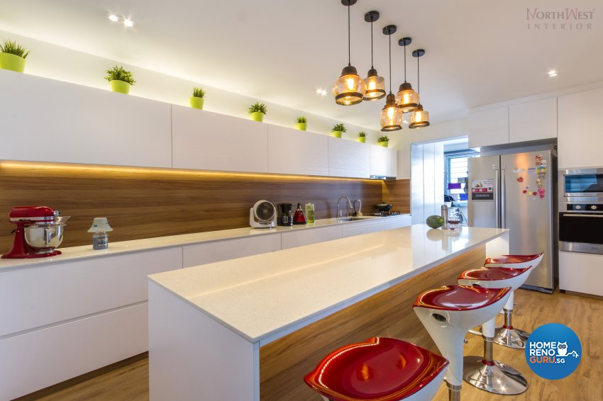 Eclectic, Modern, Retro Design - Kitchen - HDB 4 Room - Design by NorthWest Interior Design Pte Ltd