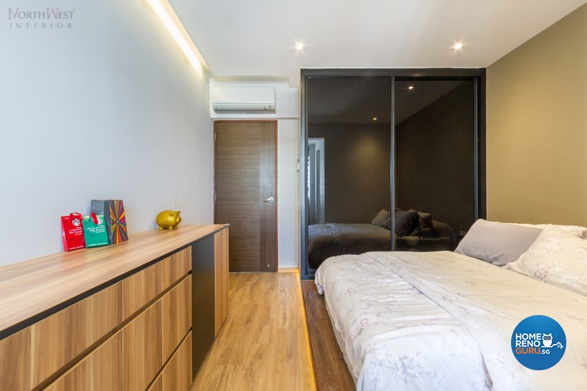 Eclectic, Modern, Retro Design - Bedroom - HDB 4 Room - Design by NorthWest Interior Design Pte Ltd