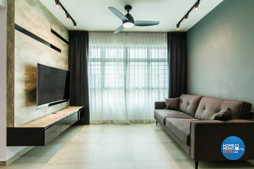 Contemporary, Industrial, Minimalist Design - Living Room - HDB 4 Room - Design by NorthWest Interior Design Pte Ltd