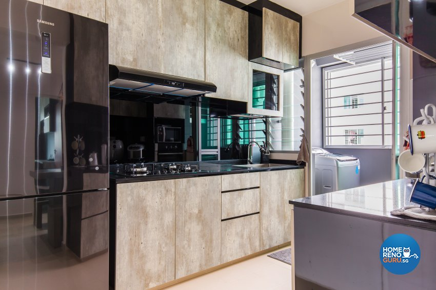 Contemporary, Industrial, Minimalist Design - Kitchen - HDB 4 Room - Design by NorthWest Interior Design Pte Ltd