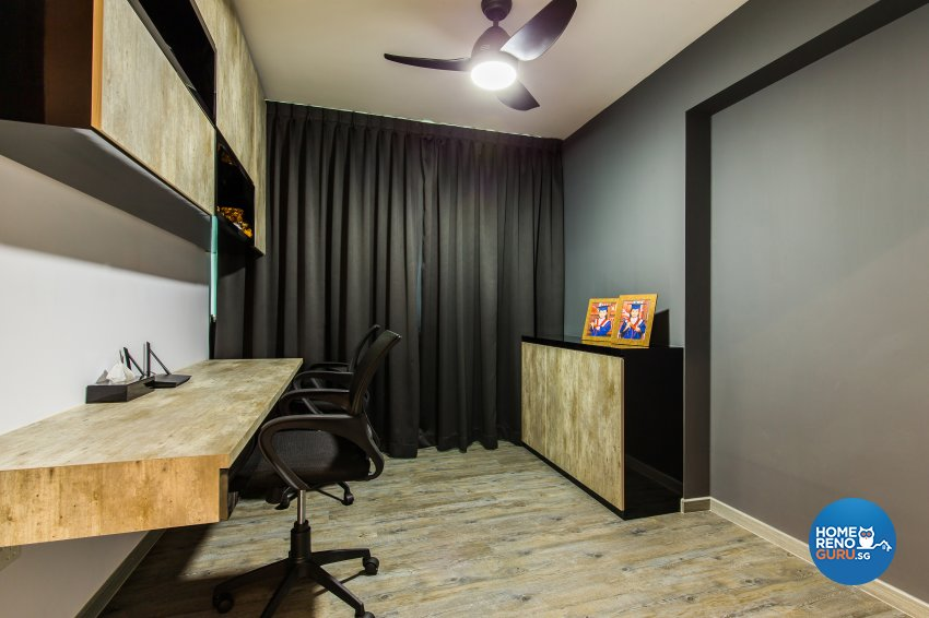 Contemporary, Industrial, Minimalist Design - Study Room - HDB 4 Room - Design by NorthWest Interior Design Pte Ltd