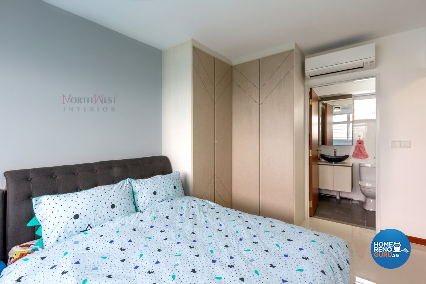Contemporary Design - Bedroom - HDB 4 Room - Design by NorthWest Interior Design Pte Ltd
