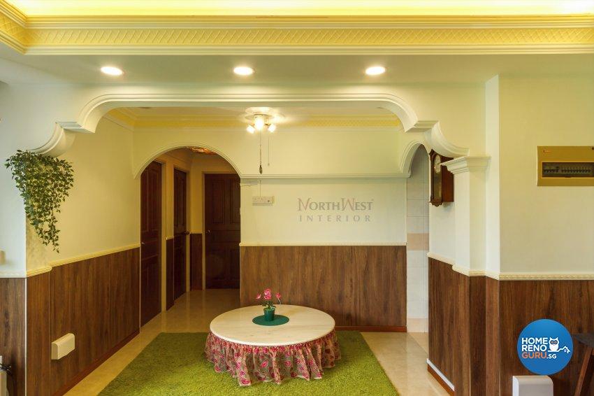 Classical, Rustic Design - Dining Room - HDB 4 Room - Design by NorthWest Interior Design Pte Ltd