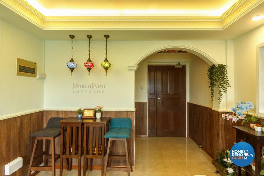 Classical, Rustic Design - Living Room - HDB 4 Room - Design by NorthWest Interior Design Pte Ltd