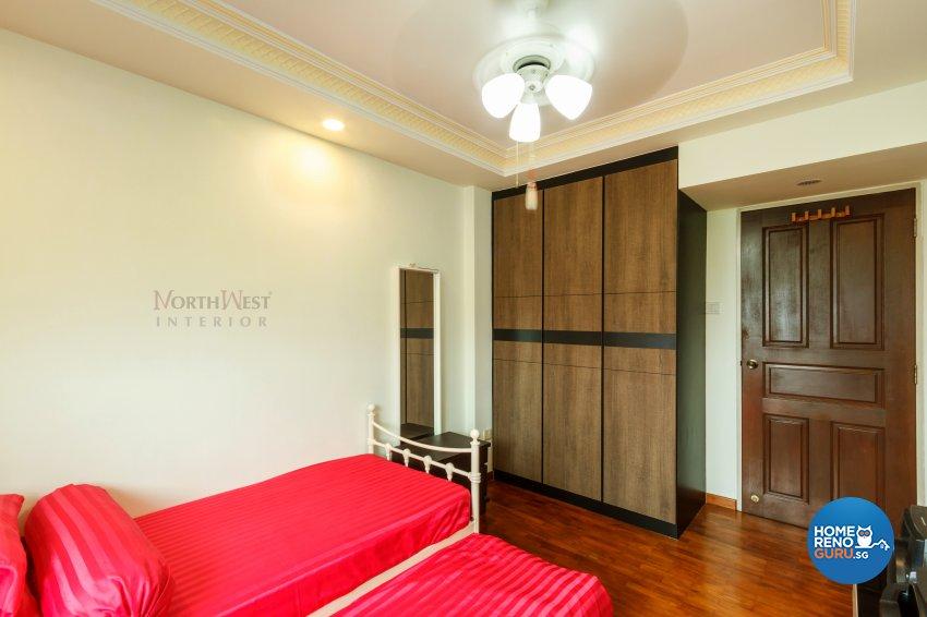 Classical, Rustic Design - Bedroom - HDB 4 Room - Design by NorthWest Interior Design Pte Ltd
