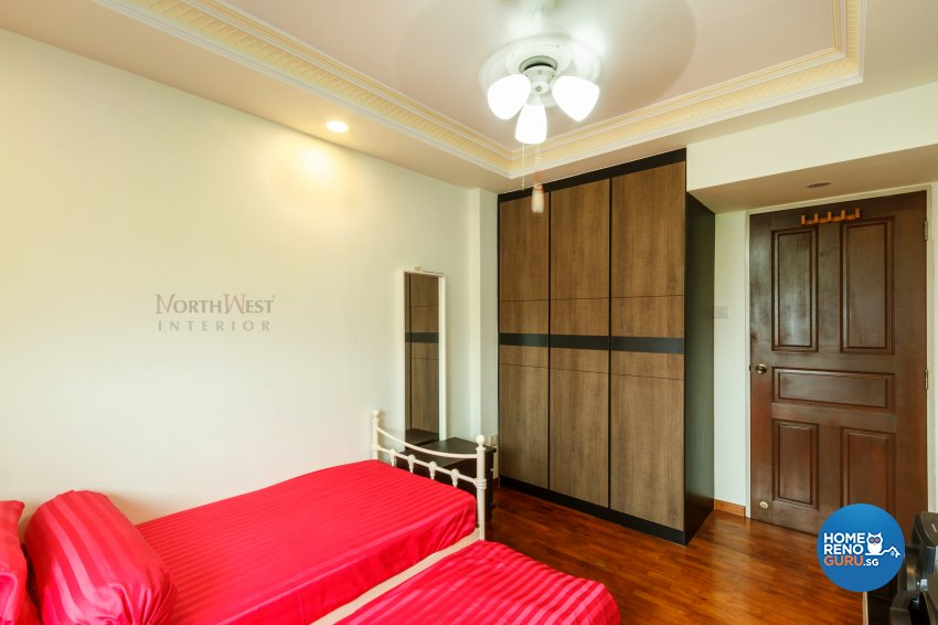 Classical, Rustic Design - Bedroom - HDB 4 Room - Design by NorthWest Interior Design Pte Ltd