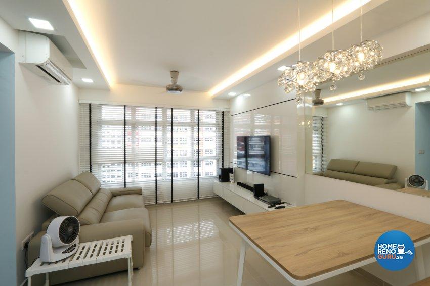 Contemporary, Minimalist Design - Living Room - HDB 4 Room - Design by NorthWest Interior Design Pte Ltd
