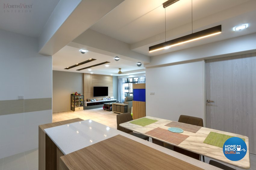 Contemporary, Resort Design - Dining Room - HDB 5 Room - Design by NorthWest Interior Design Pte Ltd