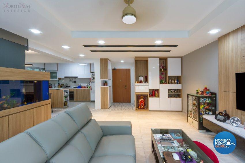Contemporary, Resort Design - Living Room - HDB 5 Room - Design by NorthWest Interior Design Pte Ltd