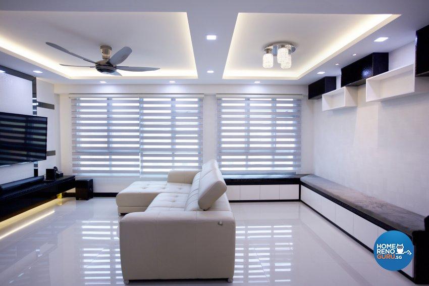 Contemporary, Modern Design - Living Room - HDB 5 Room - Design by NorthWest Interior Design Pte Ltd