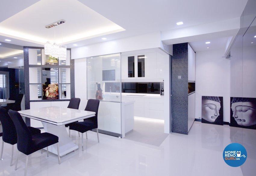 Contemporary, Modern Design - Dining Room - HDB 5 Room - Design by NorthWest Interior Design Pte Ltd