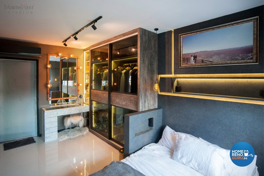 Industrial Design - Bedroom - HDB 5 Room - Design by NorthWest Interior Design Pte Ltd