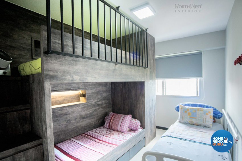 Industrial Design - Bedroom - HDB 5 Room - Design by NorthWest Interior Design Pte Ltd