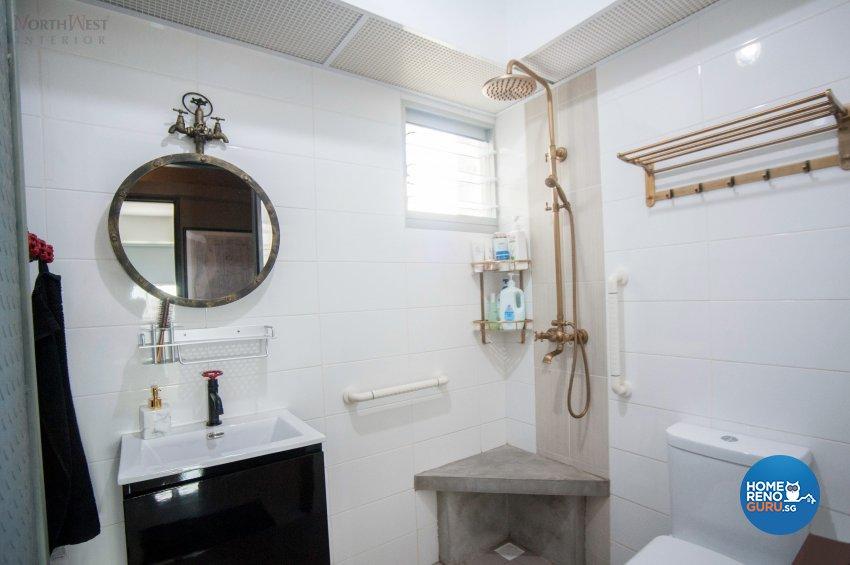Industrial Design - Bathroom - HDB 5 Room - Design by NorthWest Interior Design Pte Ltd