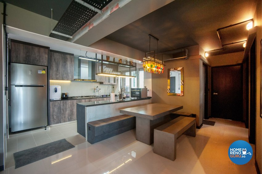 Industrial Design - Kitchen - HDB 5 Room - Design by NorthWest Interior Design Pte Ltd