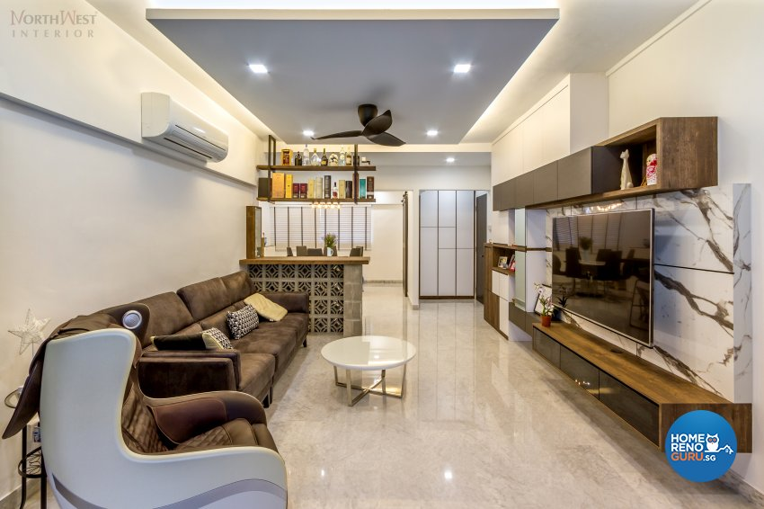 Contemporary, Retro, Vintage Design - Living Room - HDB 5 Room - Design by NorthWest Interior Design Pte Ltd