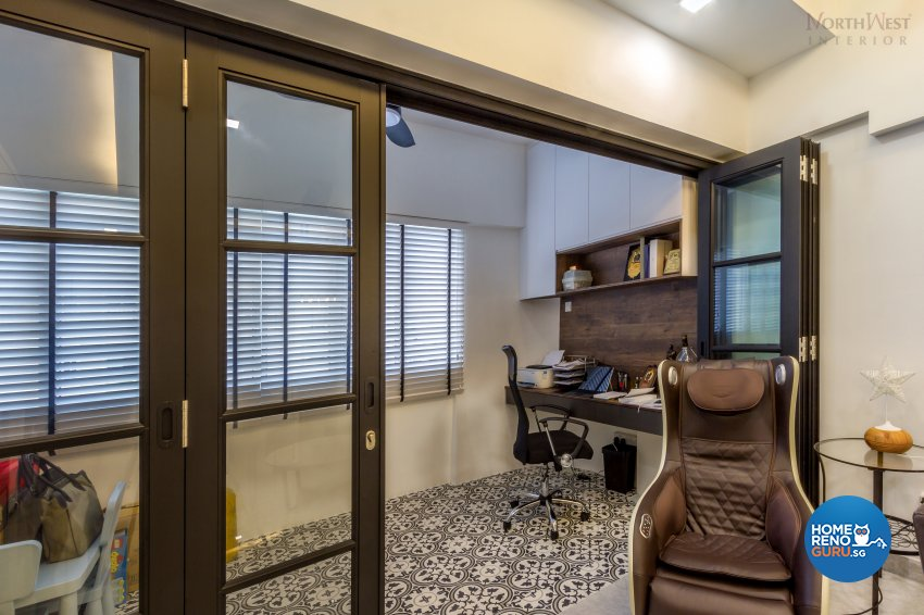 Contemporary, Retro, Vintage Design - Study Room - HDB 5 Room - Design by NorthWest Interior Design Pte Ltd