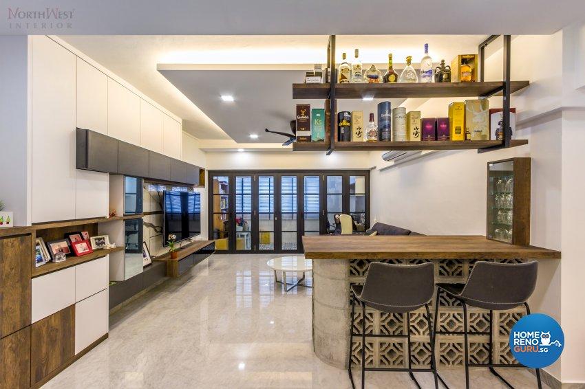 Contemporary, Retro, Vintage Design - Living Room - HDB 5 Room - Design by NorthWest Interior Design Pte Ltd