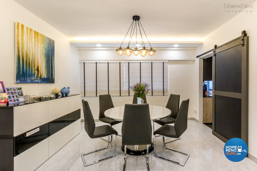 Contemporary, Retro, Vintage Design - Dining Room - HDB 5 Room - Design by NorthWest Interior Design Pte Ltd