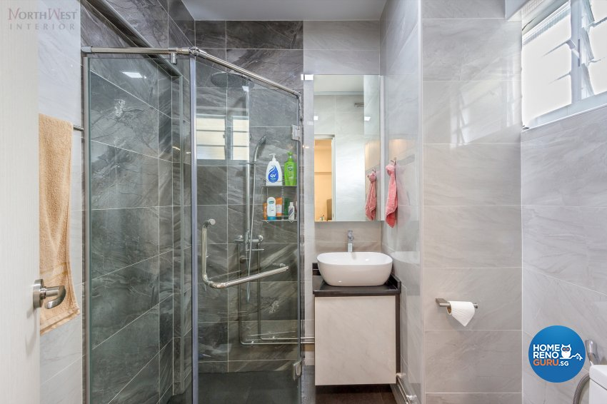 Contemporary, Retro, Vintage Design - Bathroom - HDB 5 Room - Design by NorthWest Interior Design Pte Ltd