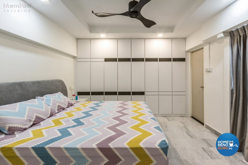 Contemporary, Retro, Vintage Design - Bedroom - HDB 5 Room - Design by NorthWest Interior Design Pte Ltd