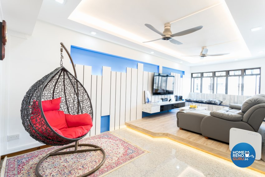 Modern Design - Living Room - HDB 5 Room - Design by NorthWest Interior Design Pte Ltd