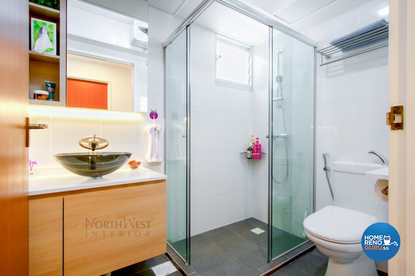 Contemporary Design - Bathroom - HDB 5 Room - Design by NorthWest Interior Design Pte Ltd